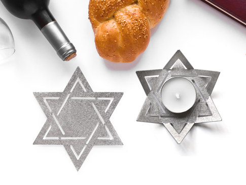 star of David candle holders