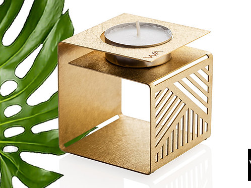 KLARA - brass candle holder | Housewarming Gift | Tea light holder | Geometric tea light holder