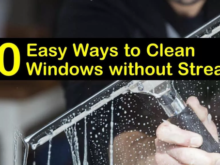 How to Clean Windows without Streaks