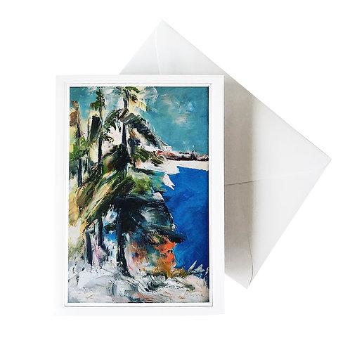"""Kunst-Grußkarte """"Neige et eau"""" Basque"""