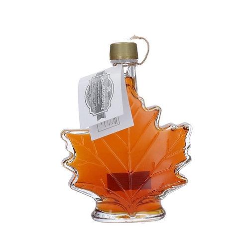 Purer Ahornsirup, Qualitätsgrad A, Amber, Glasflasche Ahornblatt, 50ml