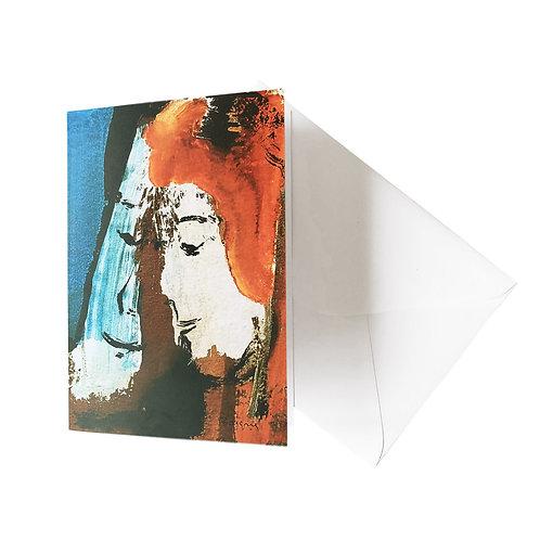 """Kunst-Grußkarte """"Le tête à tête"""" Basque"""