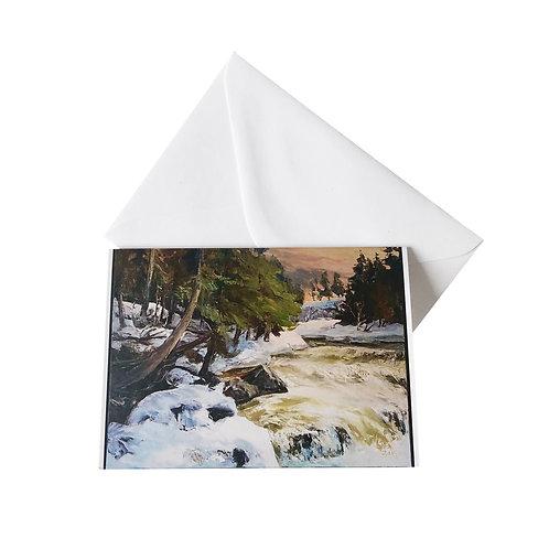 """Kunst-Grußkarte """"La rivière annonce le printemps"""" Basque"""