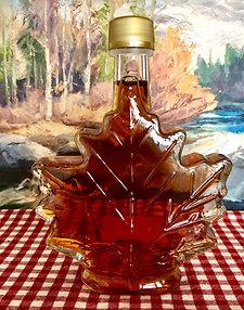 Purer Ahornsirup, Qualitätsgrad A, Amber, Glasflasche Ahornblatt, 250ml