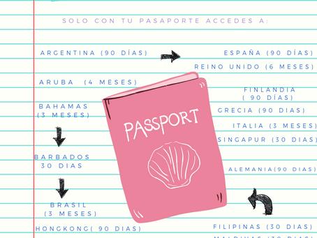 Solo con tu pasaporte puedes acceder a 133 países ✨🙊