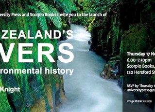 You are invited to New Zealand's Rivers launch - 17 November