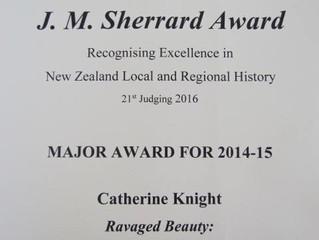 """Ravaged Beauty"" wins prestigious Sherrard Award"