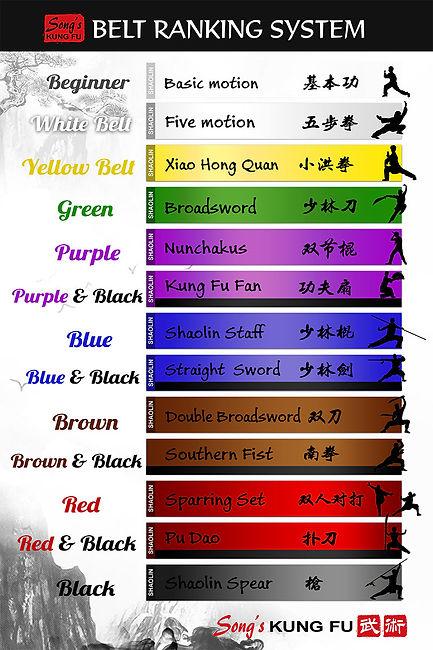 Kung Fu School Belts