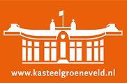 KG wit met oranje achtergrond met websit