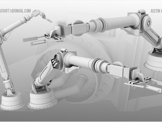 High Poly Robot Arm