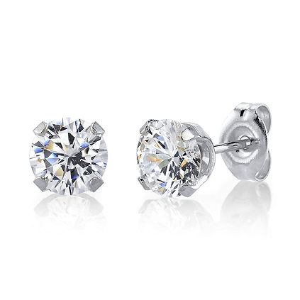 STAINLESS+STEEL+6MM+CUBIC+ZIRCONIA+FOR+M