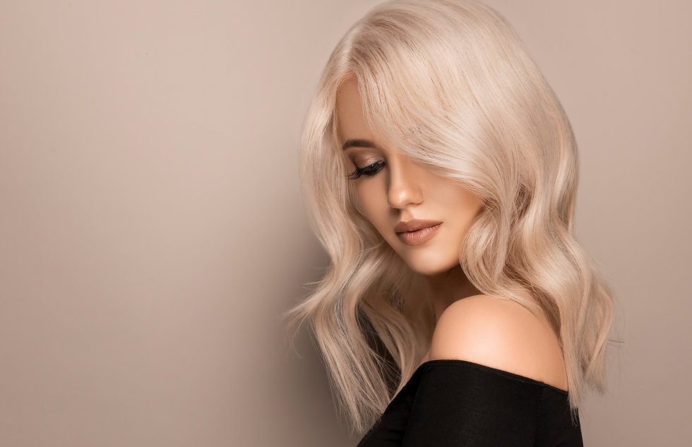 Beautiful girl with hair coloring in ult