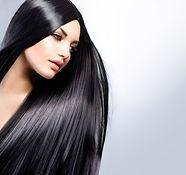 Hair. Beautiful Brunette Girl. Healthy L