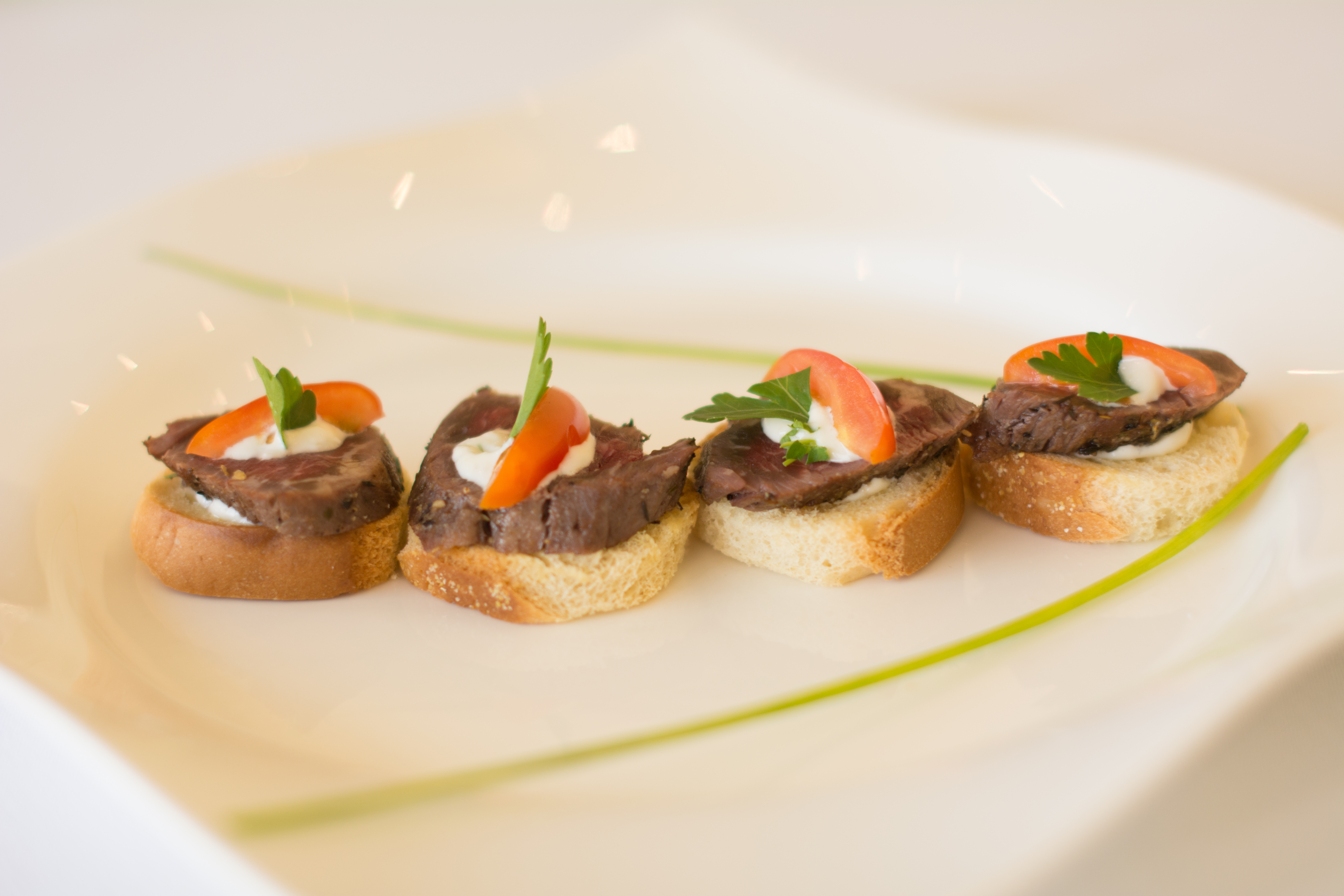 Mini Beef Medallions on Crostini