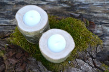 Kerzenstander aus Holz