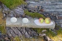 Kerzenhalter Holzstamm mit Ablage geschliffen