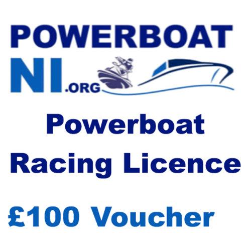 Powerboat racing Licence £100 voucher