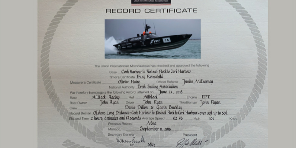 Cork - Fastnet - Cork UIM World Record
