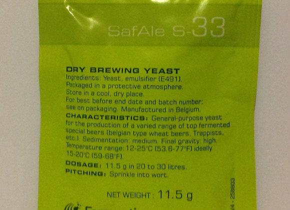 S-33 Yeast 11.5g