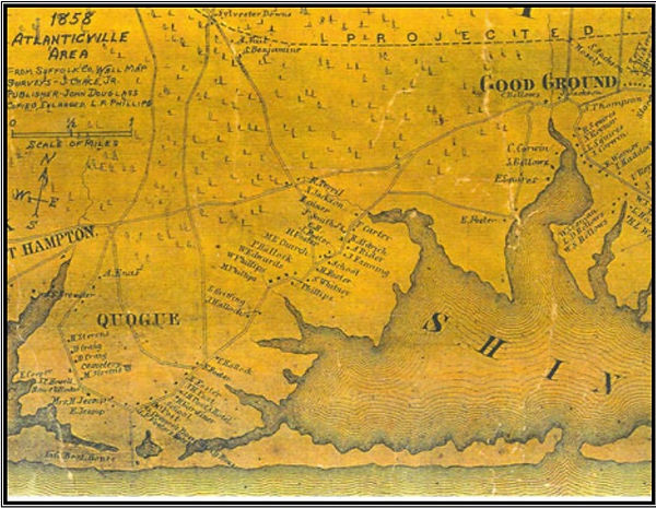 Map Of Quogue New York.History Eq Historical