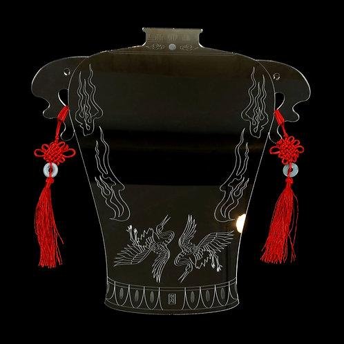 Crane Vase Mirror