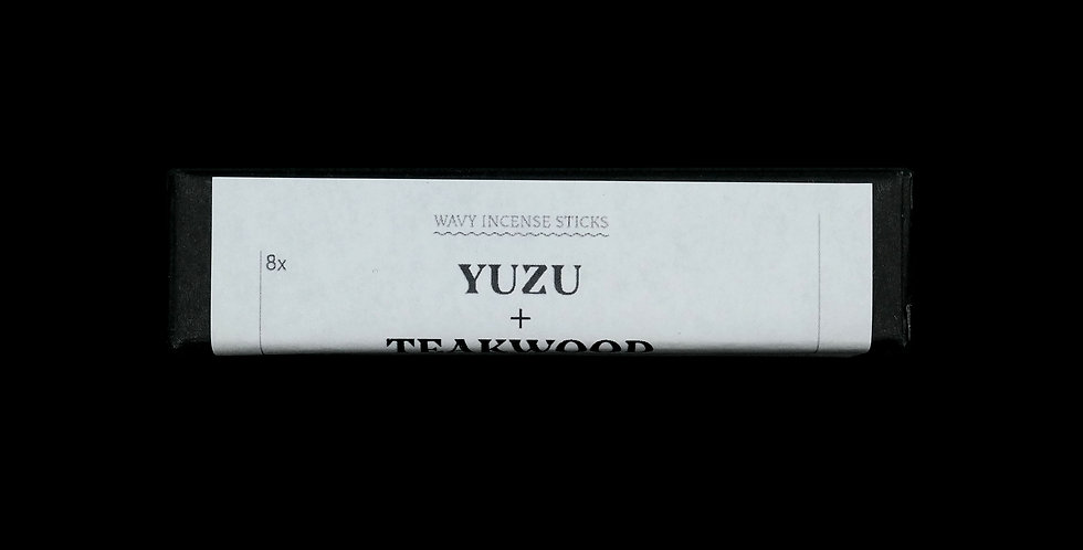 Yuzu + Teakwood Wavy Incense Sticks