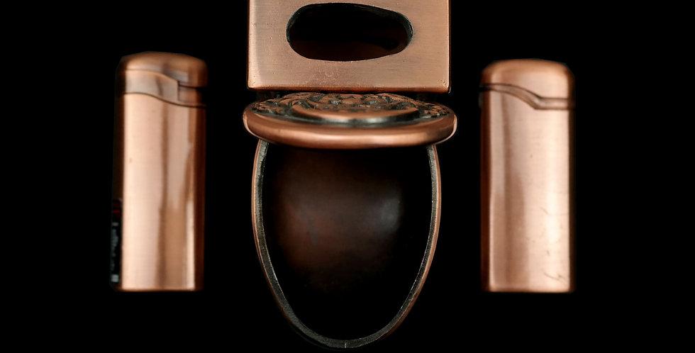 Copper Toilet Ashtray/Lighter Set