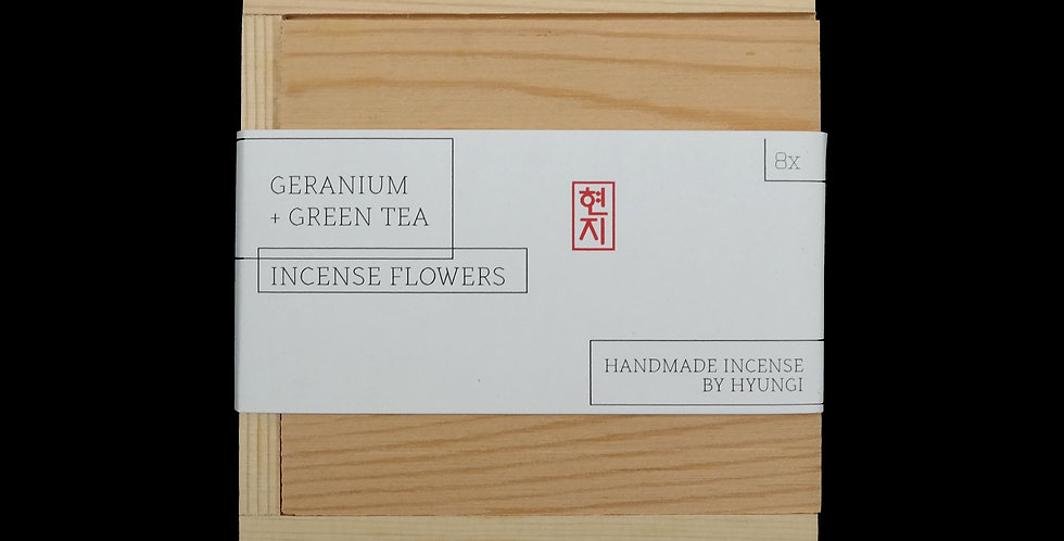 WHOLESALE: Geranium + Green Tea Incense Flowers