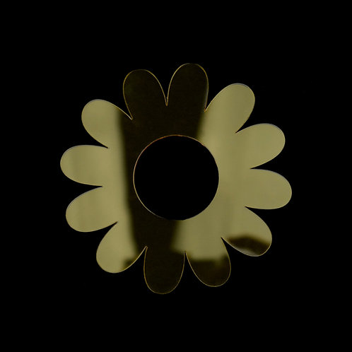 Yellow Flower Acrylic Napkin Rings (Set of Four)
