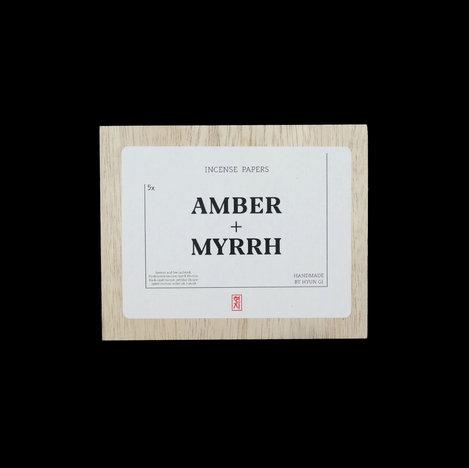 Amber + Myrrh Incense Papers