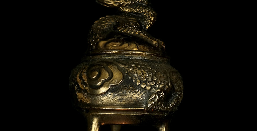 Brass Dragon Incense Burner