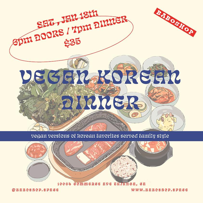 VEGAN KOREAN DINNER