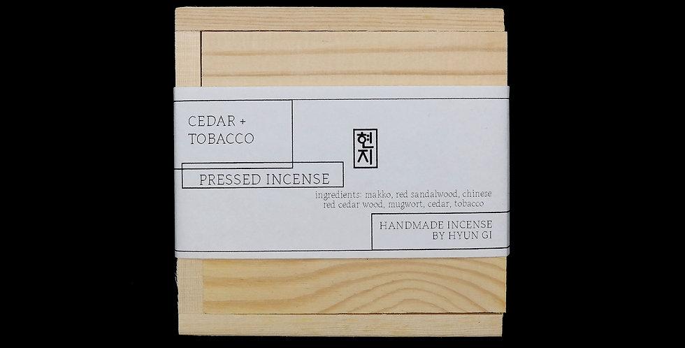 Cedar + Tobacco Pressed Leaf Incense