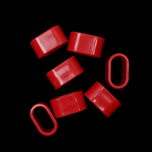 Red Mod Napkin Rings (Seven)