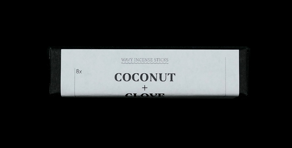 WHOLESALE: Coconut + Clove Wavy Incense Sticks