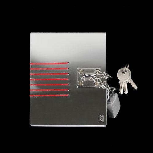 D Ring Mirror Acrylic Locked Journal