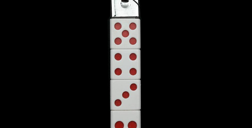 White Stacked Dice Lighter