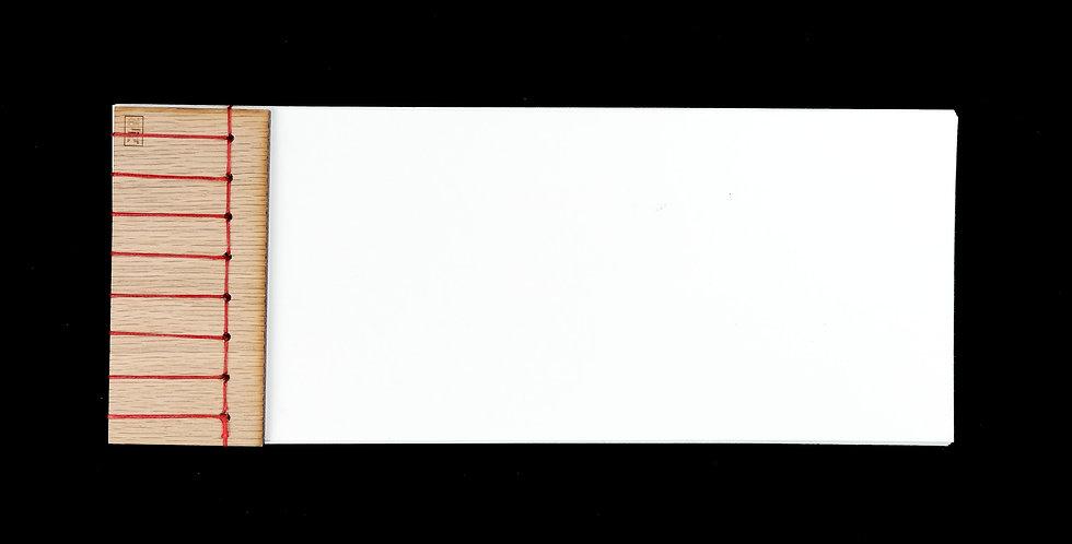 Stab Bound Oak Wood Journal
