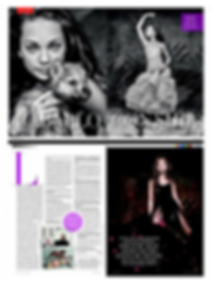 Maddie Zeigler for Italian Vanity Fair Magazine with Snowball the Wolfdog of Rare Breed Exotics