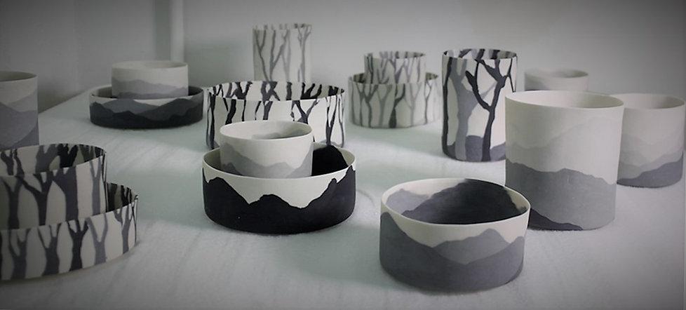 2016, Project Sylinder, Porcelain, 'Nerikomi', Hand work.