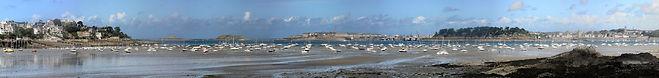 Photographie exceptionnelle de la baie de Dinard vers Saint Malo et la tour Solidor. Photographie Yann Chollet exclusif.