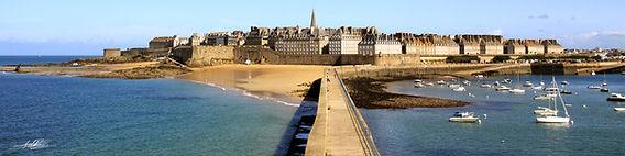 Panoramique du mole de Saint Malo en Bretagne | Tirage grand format