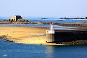 Le Mole des noires à Saint Malo en Bretagne. Tirage Grand Format.