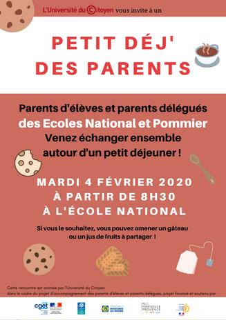 Petit déj' des parents National-Pommier.