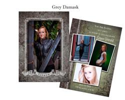 Grey Damask