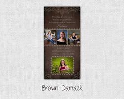 Brown Damask