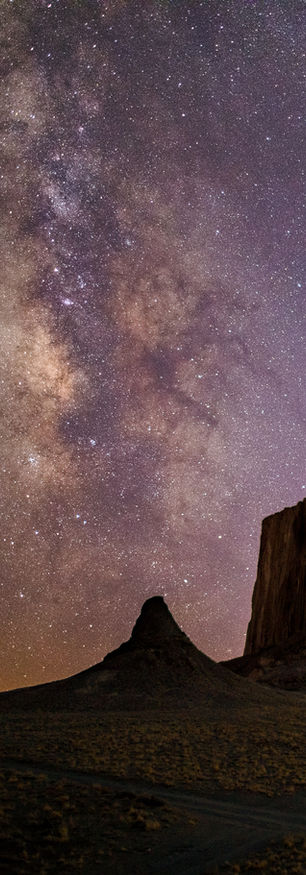 Shiprock Under the Milky Way