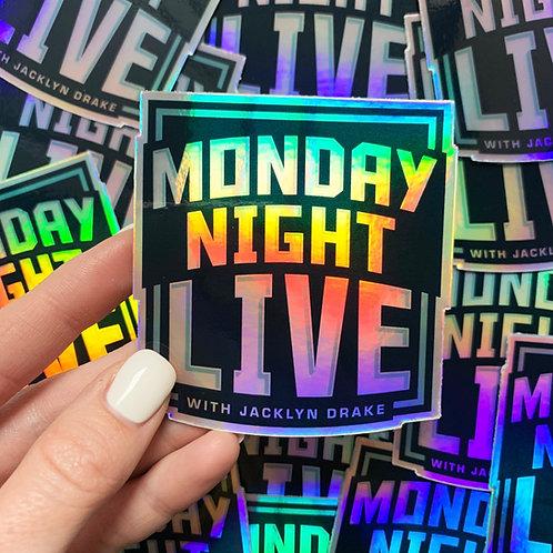 Monday Night Live Sticker
