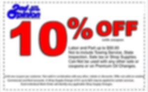 2nd Opinion Auto Center Coupon