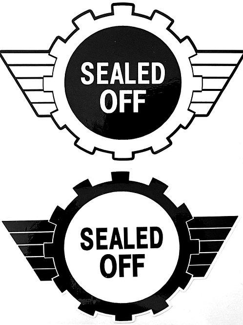 Sealed Off Sticker
